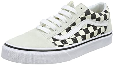 Vans Old Skool Checkerboard Unisex Black White Scarpe da Ginnastica 7.5 UK