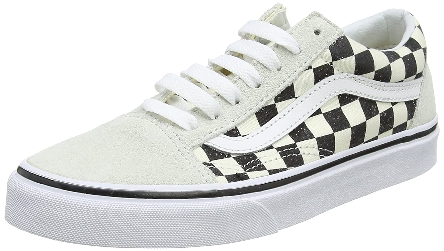 Vans Old Skool, Zapatillas Unisex Adulto 44 EU|Hueso (Checkerboard)