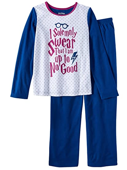 3546e1db35 Image Unavailable. Image not available for. Color: HARRY POTTER Girls  Fleece Pajama Set I Solemnly Swear I'm Up ...