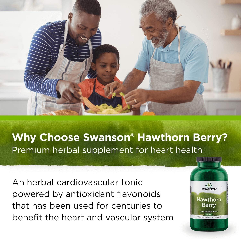 Swanson Premium Hawthorn Berries 250 Caps, 565 mg each: Health & Personal Care