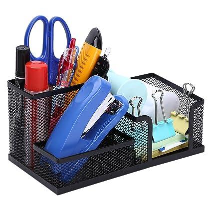 Amazon com : TOROTON Office Supply Caddy, 3 Compartments