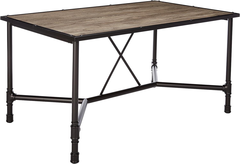 Acme Furniture 72035 Caitlin Dining Table, Rustic Oak Black