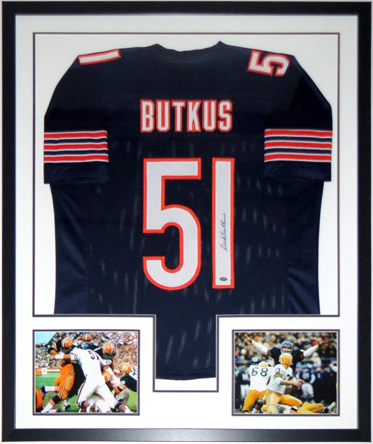 Dick Butkus Signed Authentic Chicago Bears Jersey - Mounted ...