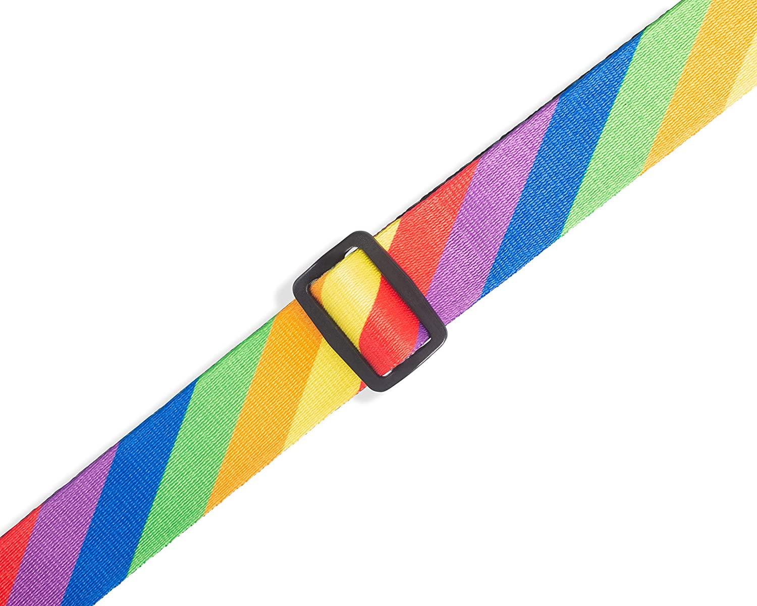 Levys Leathers 1.5 Wide Guitar Strap for Kids With Rainbow Pattern MPJR-007