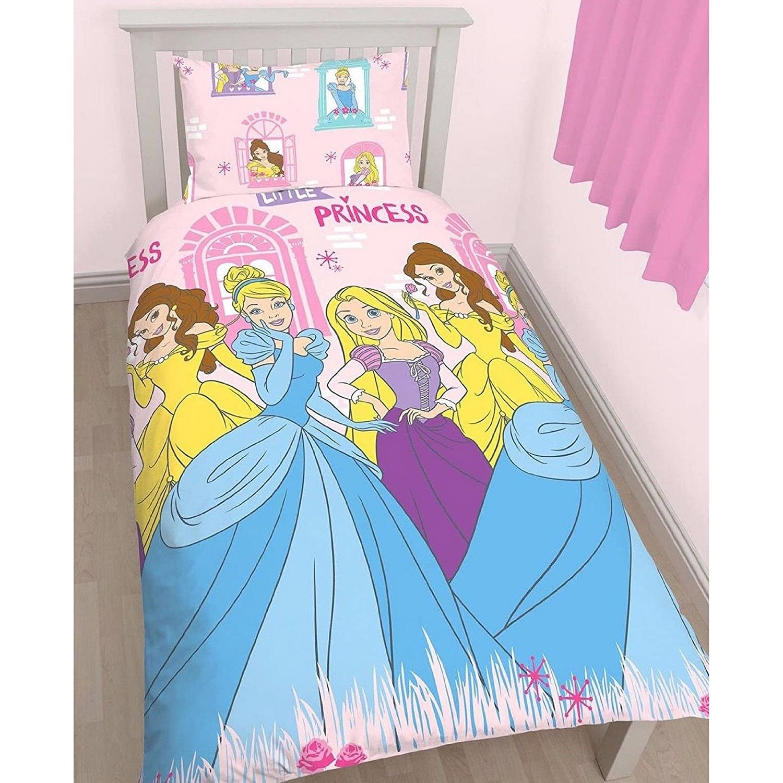 Disney Princess Childrens Girls Boulevard Reversible Single Bedding Set (Twin) (Pink) UTKB921_1