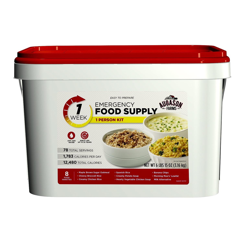 Amazon.com Augason Farms 1-Week 1-Person Emergency Food Supply Kit 6 lbs 15 oz Sports u0026 Outdoors  sc 1 st  Amazon.com & Amazon.com: Augason Farms 1-Week 1-Person Emergency Food Supply Kit ...