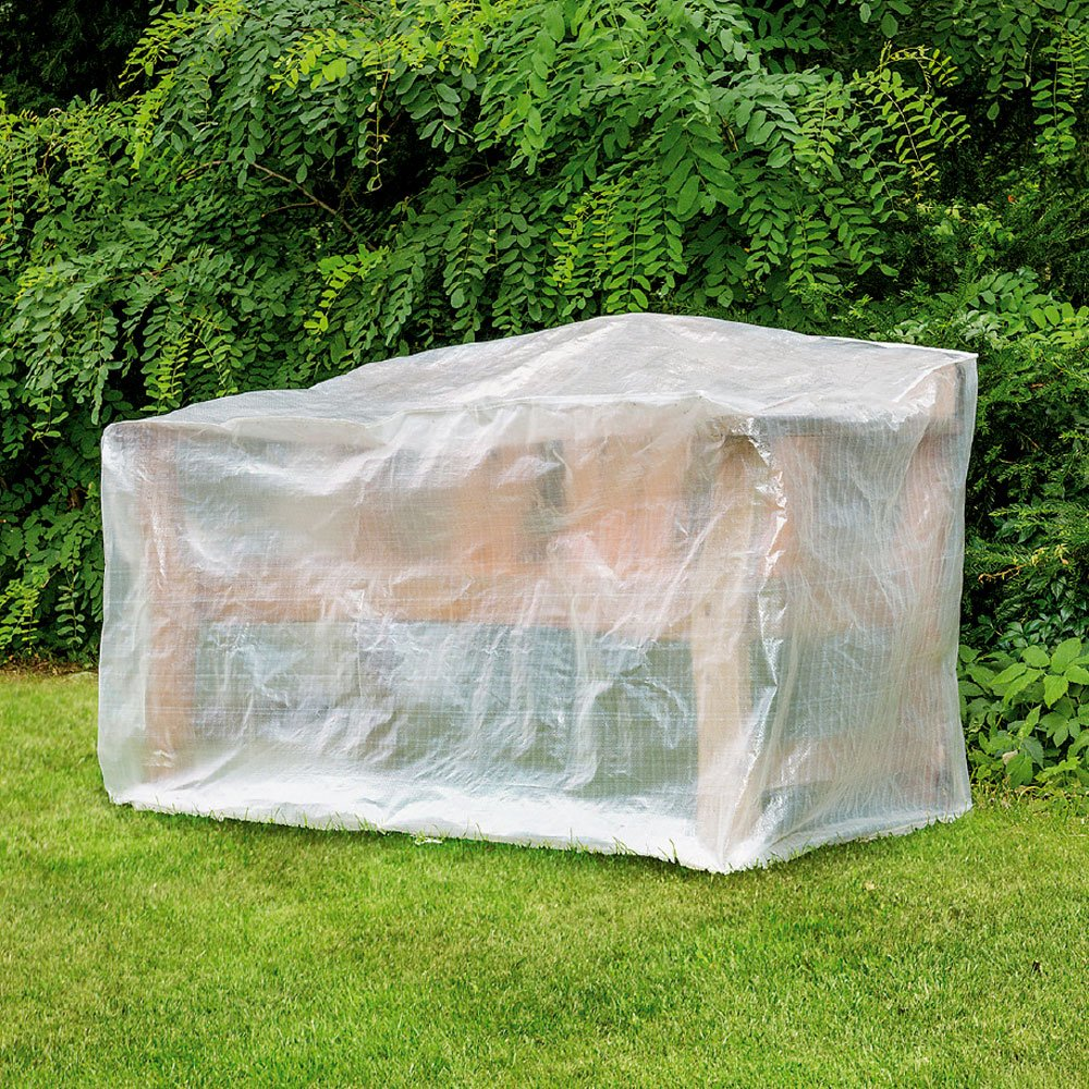 Schutzhülle für Gartenbönke ca. 160 x 80cm, PE, 75g/m2, transparent Hummelladen