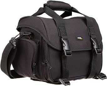 حقيبة ادوات كاميرا رقمية عاكسة مفردة العدسة بحجم كبير وتصميم برتقالي من الداخل من أمازون بيسكس