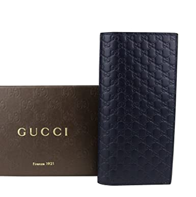 e094b1a044c3 Image Unavailable. Image not available for. Color: Gucci Microguccissima  Blue Leather Wallet With ID window ...