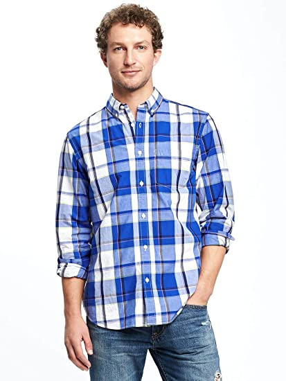 51684d70be4 Old Navy Regular-Fit Soft-Washed Classic Shirt for Men (X-Large ...