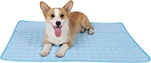 Spring Fever Small Large Pet Animal Dog Cat Washable Ice Silk Summer Foldable Self Cooling Mat Pad Sleeping Cusion Blanket Bed Cage Accessorie