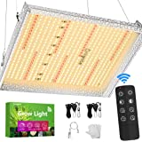 Briignite 1000W Led Grow Light, 3x3ft Full Spectrum Plant Lamp with 415pcs Led, 15600lm 5 Brightness Dimmable, Remote…