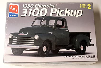 Chevrolet Truck Models >> Amazon Com 1950 Chevrolet 3100 Pickup 1 25 Model Kit By Amt Toys