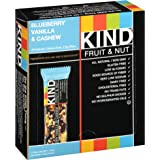 KIND Fruit and Nut Bars, Blueberry Vanilla and Cashew, 1.4 oz Bar, 12 Count (Pack of 2)