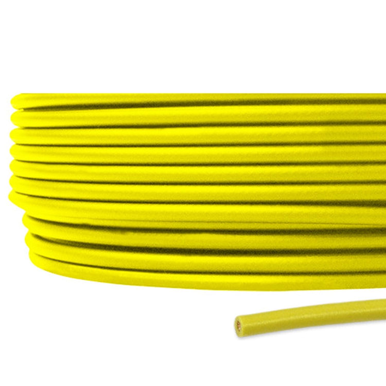 フジクラ IV 0.9sq 600V耐圧ケーブル 黄 ビニル絶縁電線 300m 1巻 SD B06XRQK3GG