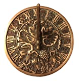 Rome 2306 Grapevine Sundial, Solid Brass with