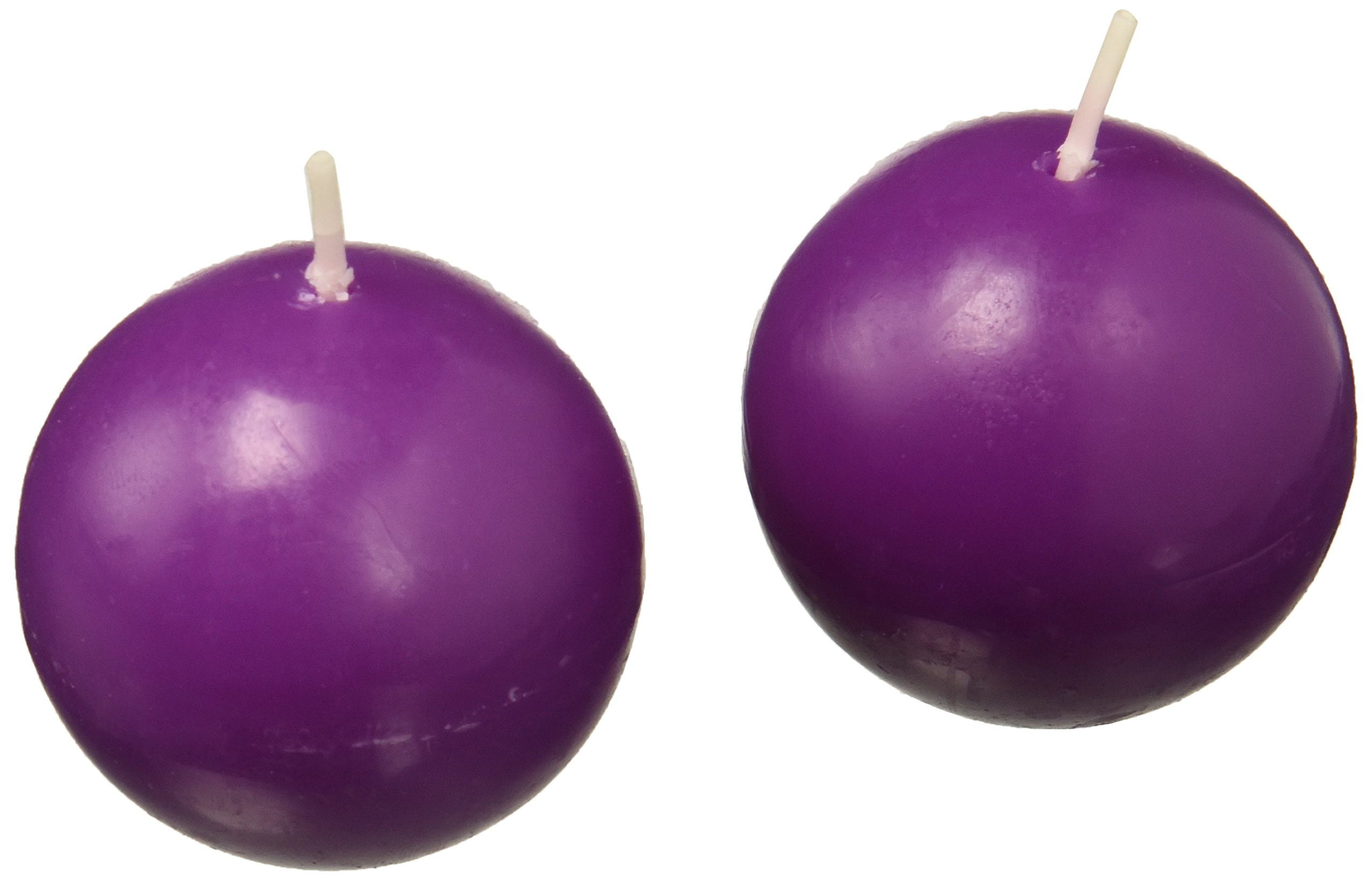 Zest Candle 12-Piece Ball Candles, 2-Inch, Purple