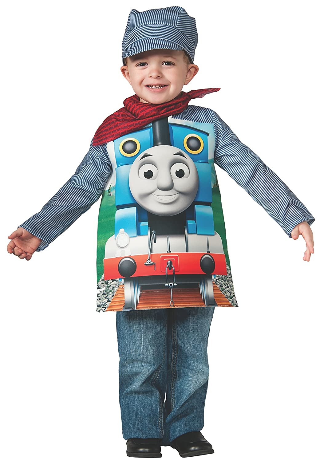 Rubies Thomas and Friends, Deluxe Thomas the Tank Engine and Engineer Costume, Toddler - Toddler One Color Rubie' s Costume Co 610084_TODD