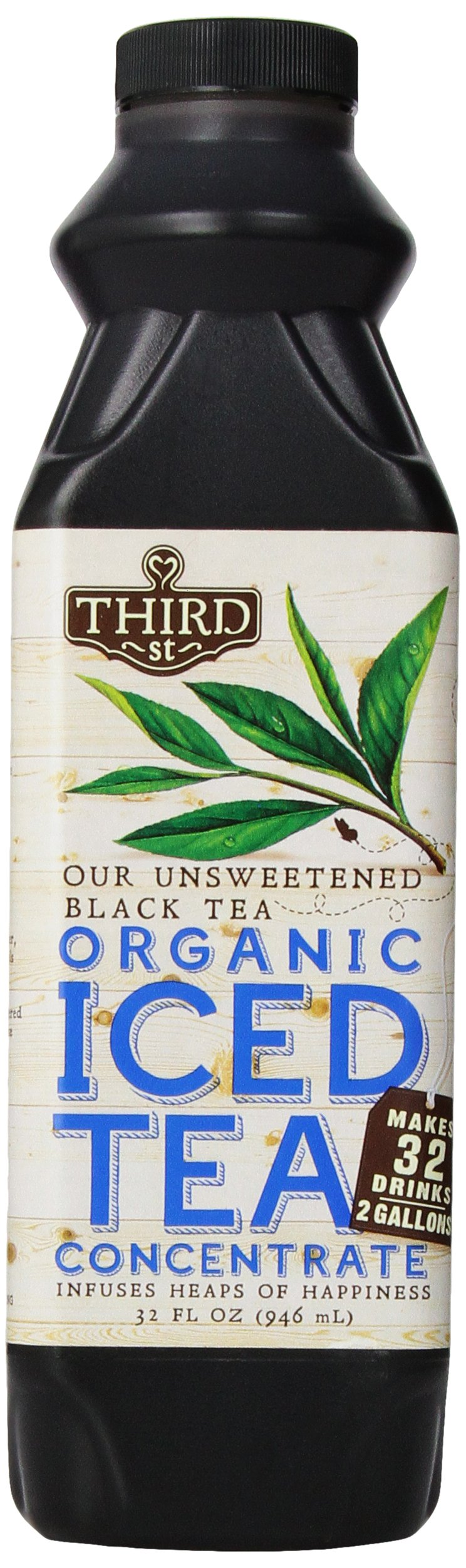 Third Street Chai Unsweetened Black Tea, 32-Ounce (Pack of 6)