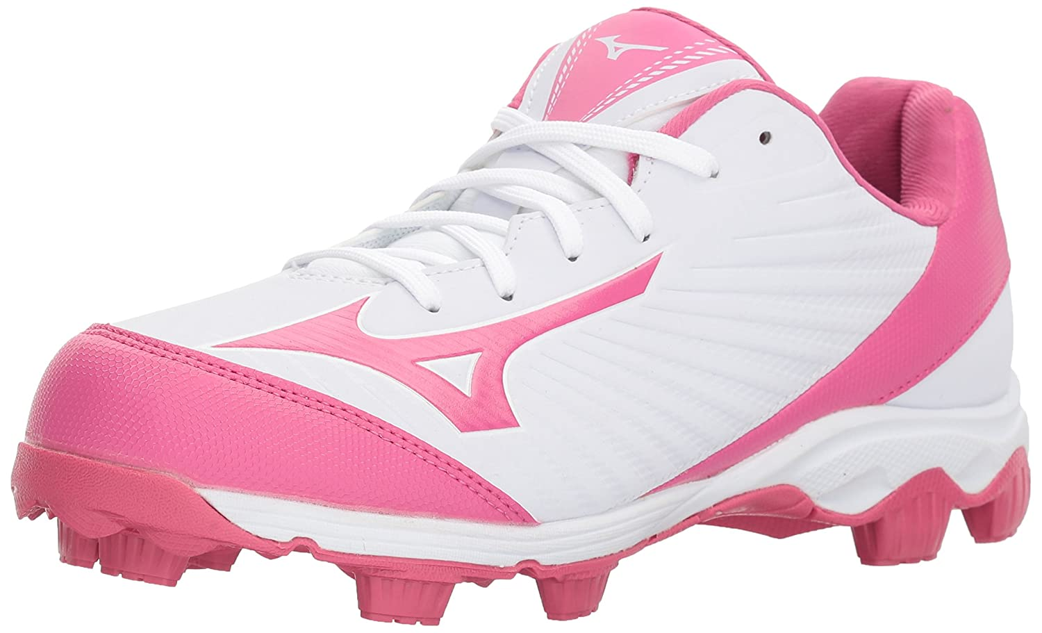 Mizuno (MIZD9) Women's 9-Spike Advanced Finch Franchise 7 Fastpitch Cleat Softball Shoe B071G19MTH 7 B(M) US|White/Pink