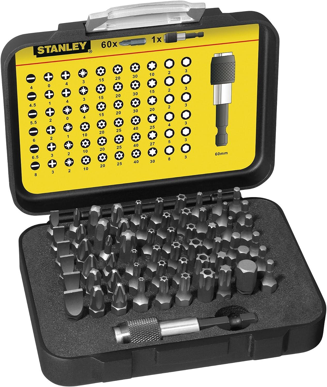 STANLEY 1-13-902 - Juego puntas destornilladores 60 piezas