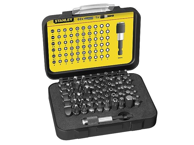 Stanley 1-13-902 Bit-Set with bit holder (61-piece), Silver ...