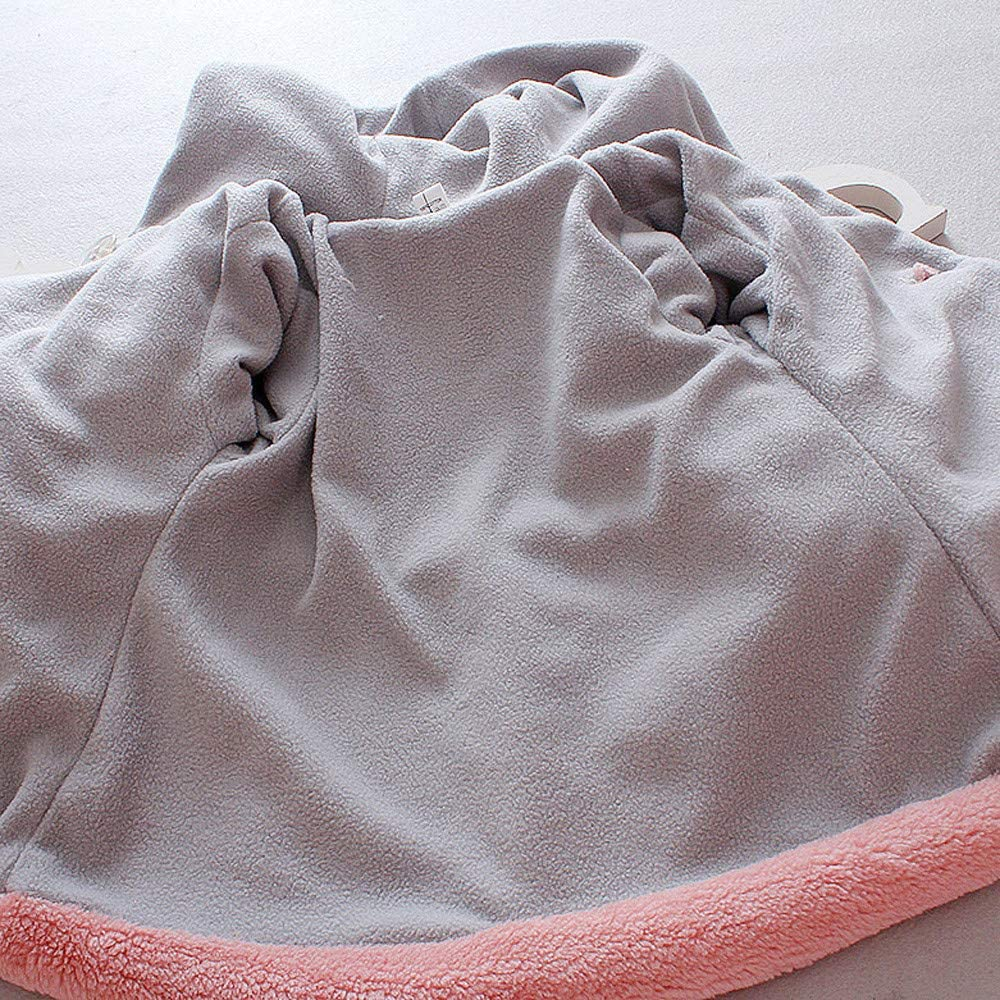 0-3 Anni Capispalla per Ragazze con Cappuccio E PON PON Fumetto Coniglio in Cotone Caldo Leggero Antivento Addensare Imbottito Giubbotti Mbby Cappotto Bambina Invernale Autunno