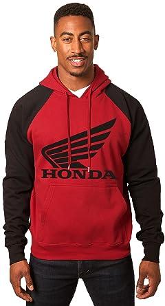 2f42ade150e JH DESIGN GROUP Men s Honda Wing Logo Hoodie a Sweatshirt for Men in Red    Black