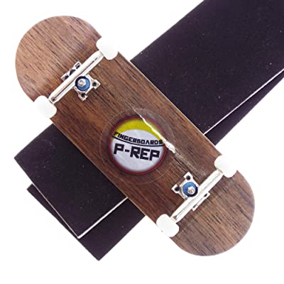 P-REP Solid Performance Complete Wooden Fingerboard 32mm x 100mm Natural (Ebony): Toys & Games