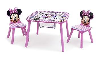 Set Tavolo E Sedie Minnie.Delta Children Set Tavolo Con 2 Sedie E Contenitore Minnie