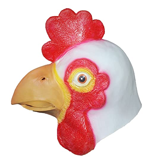 Amazon.com: DylunSky New Halloween White Cock Latex Mask ...