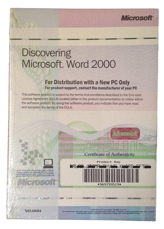 Microsoft Word 2000 Full Version Oem 1 Pack Amazon Software