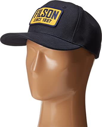 dde4d7456 Filson Men's Embroidered Patch Logger Cap Navy OS: Amazon.in ...