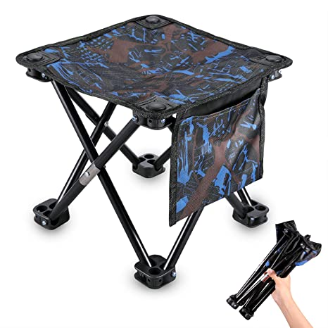 Miraculous Kuyou Portable Folding Stool 11 5 In 13 3In Camping Stool Heavy Duty 300 Lb Folding Chair With Carry Bag For Outdoor Fishing Hiking Bbq Beach And Spiritservingveterans Wood Chair Design Ideas Spiritservingveteransorg