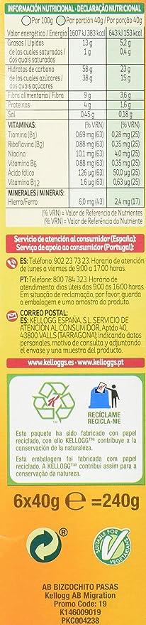 All Bran Bizcochito - Pack de 6 x 40 g - Total: 240 g: Amazon.es: Amazon Pantry
