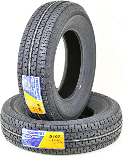 2 New Premium FREE COUNTRY Trailer Tires ST 205/75R14 8PR