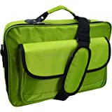"17.3"" 17"" 16.4"" 15.6"" Inch Laptop Notebook Carrying Messenger Bag Case Briefcase Green"