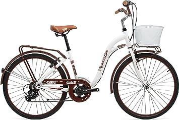 Agece Florida-26 Bicicleta de Paseo, Mujer, Crema, S: Amazon.es ...