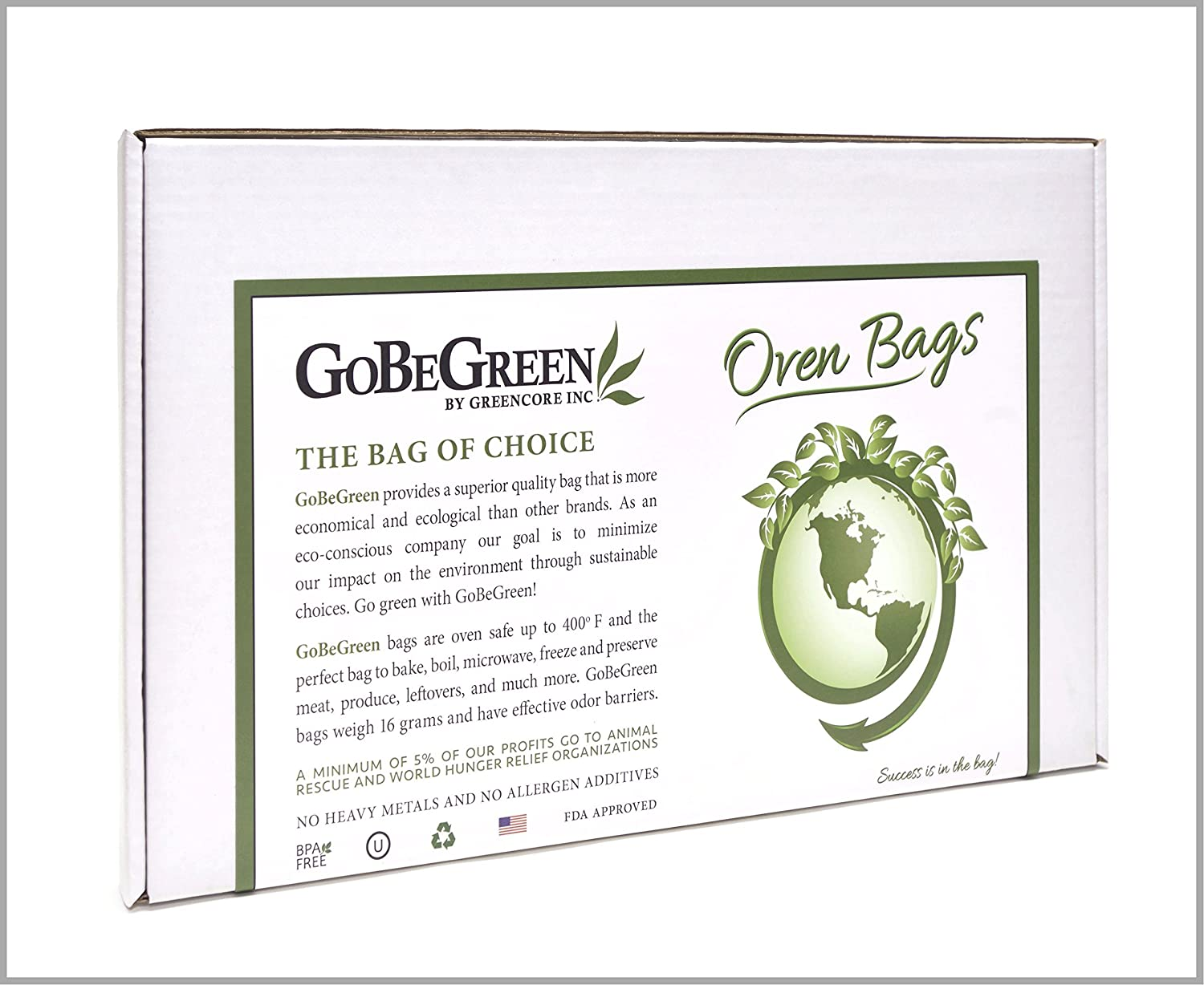 GoBeGreen Odor Proof Smell Blocking Turkey Oven Home Garden Bags, 100 Count