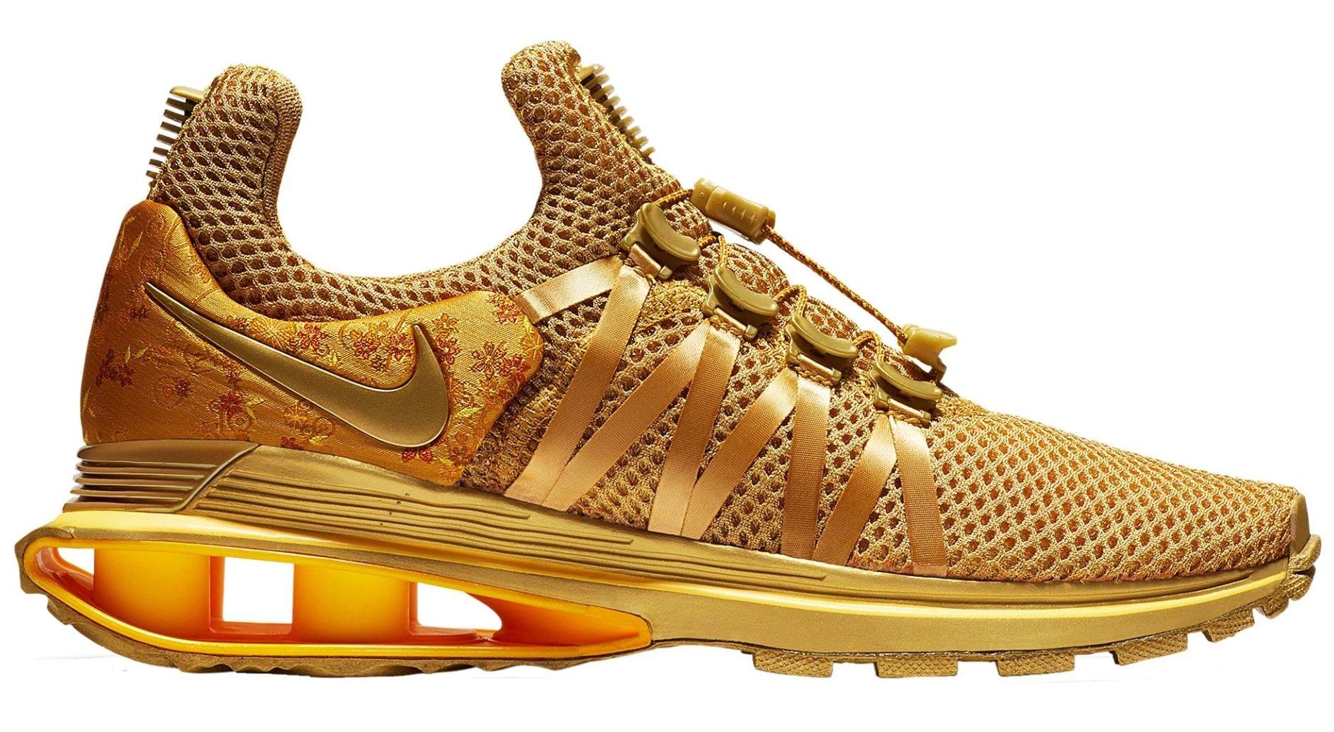 NIKE Womens Shox Gravity Metallic Gold Running Shoe AQ8854-700 (6 B(M) US)