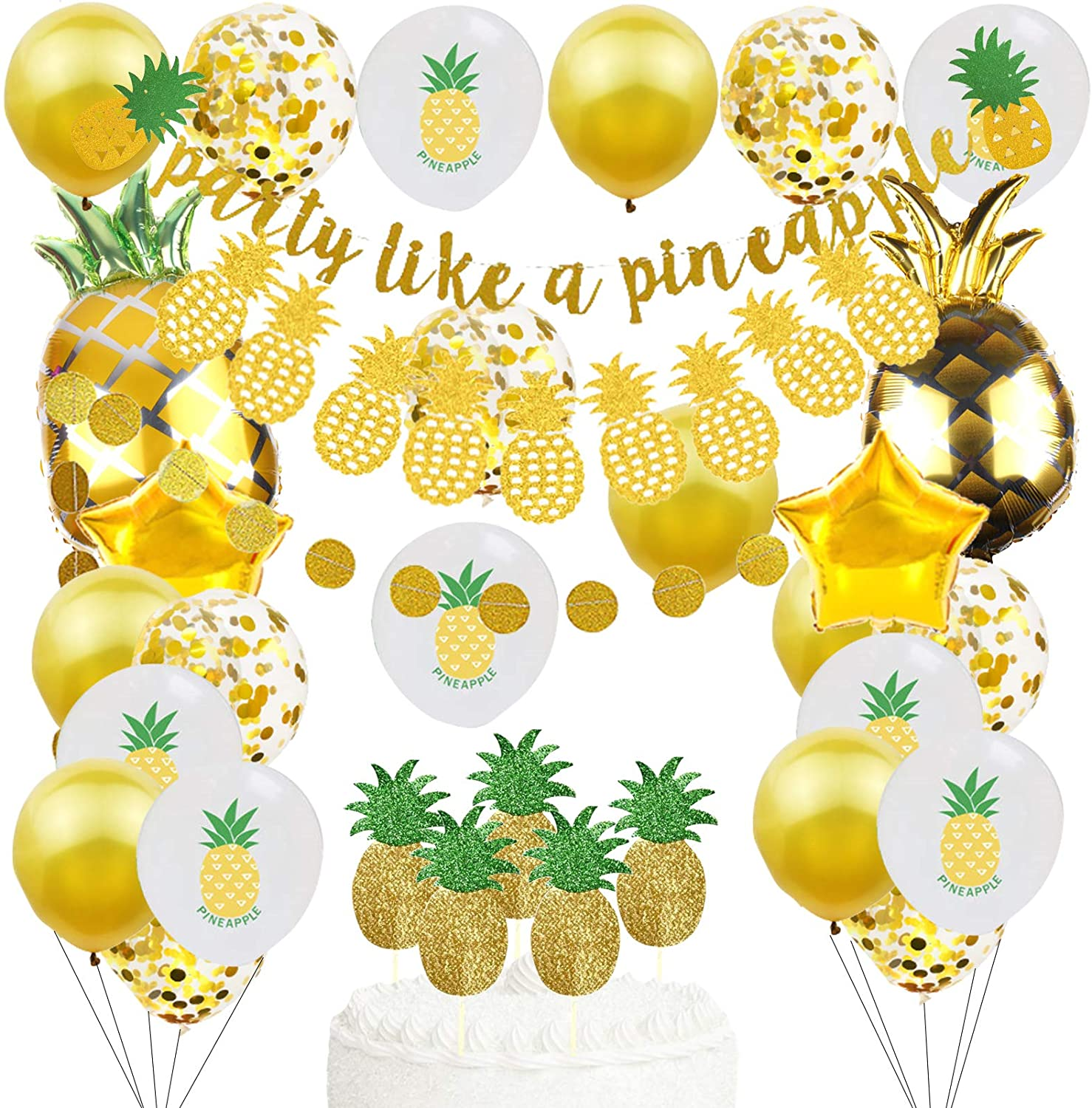 Gold Glitter SEAL limited product Pineapple OFFicial site Party Garlan Decorations Summer