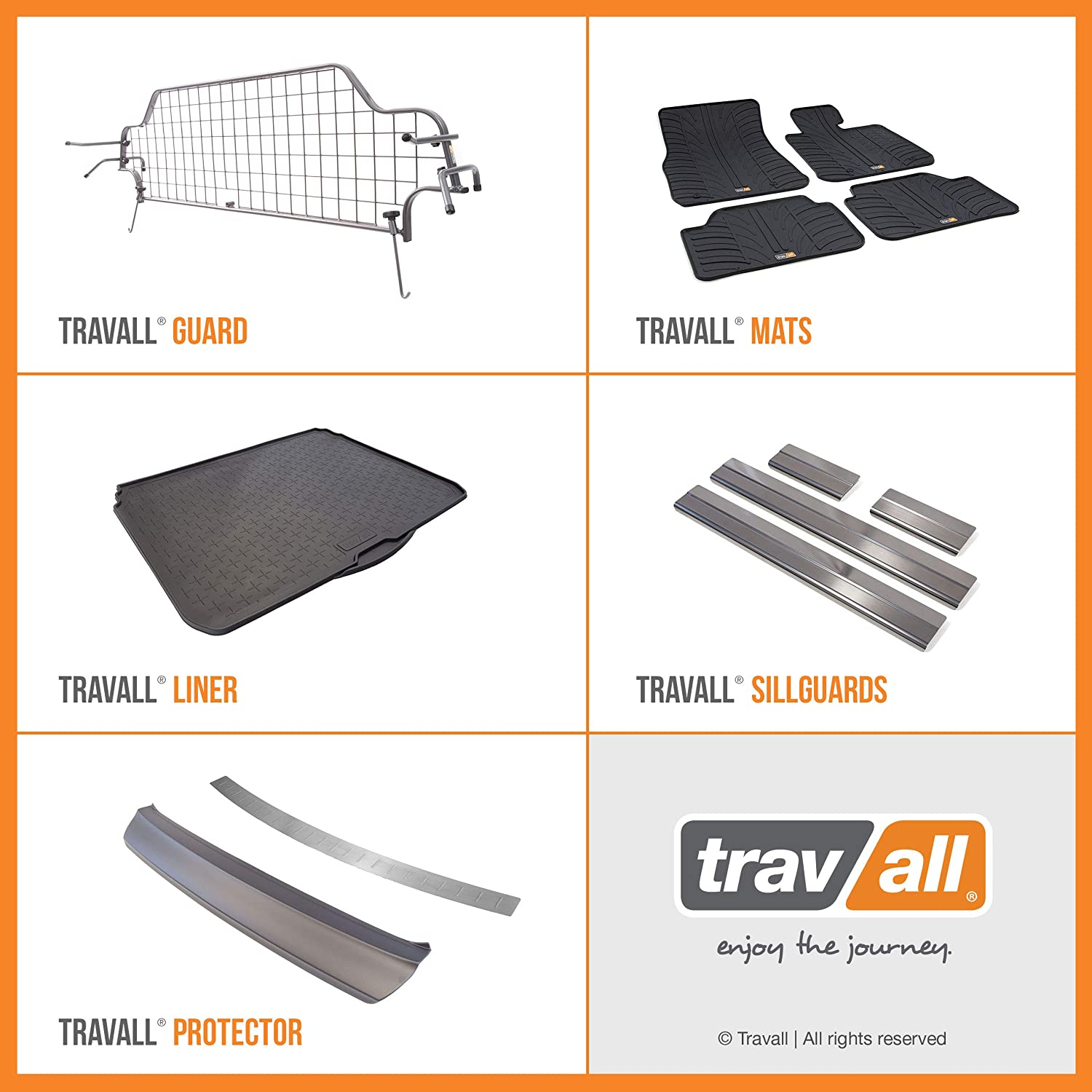 Travall Protector TBP1158P Vehicle-Specific Black Smooth Plastic Moulded Rear Bumper Protector