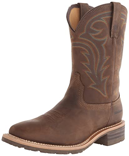 Ariat Men's Hybrid Rancher H2O Western Cowboy Boot, Oily Distressed Brown,  ...