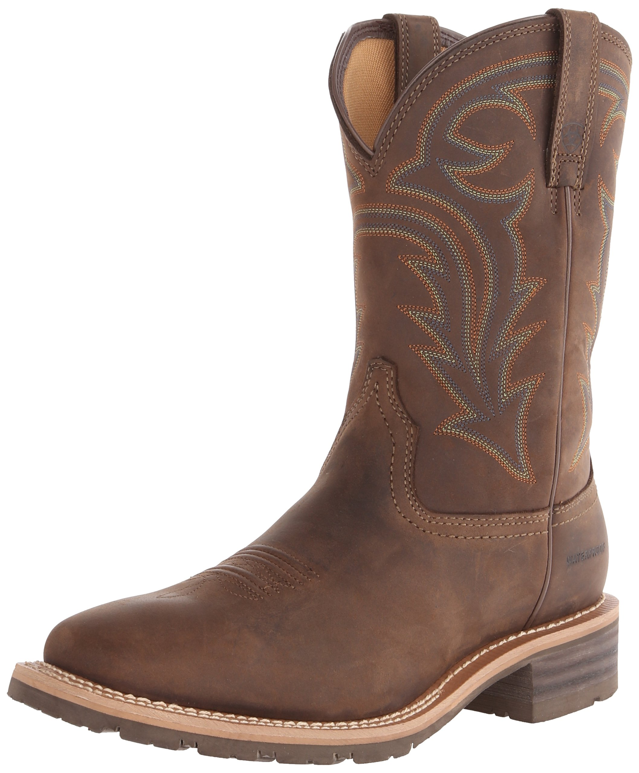 Ariat Men's Hybrid Rancher H2O Western Cowboy Boot, Oily Distressed Brown, 8.5 M US