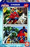 Educa - 15640 - Puzzle - Ultimate Spider-Man - 2 x 100 Pièces
