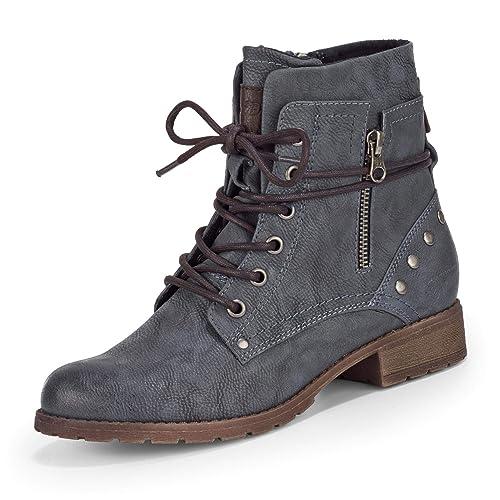 Tom Tailor 5897305, Botines para Mujer, Azul (Jeans 00270), 37 EU