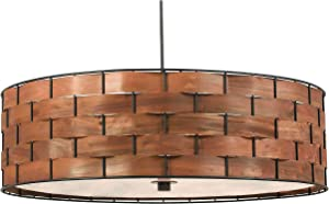 Kenroy Home 92038DWW Shaker Pendants, One Size, Dark Woven Wood Finish