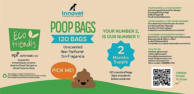 Innovet Pet Products Bolsas ecológicas para Caca de Perro: Amazon ...