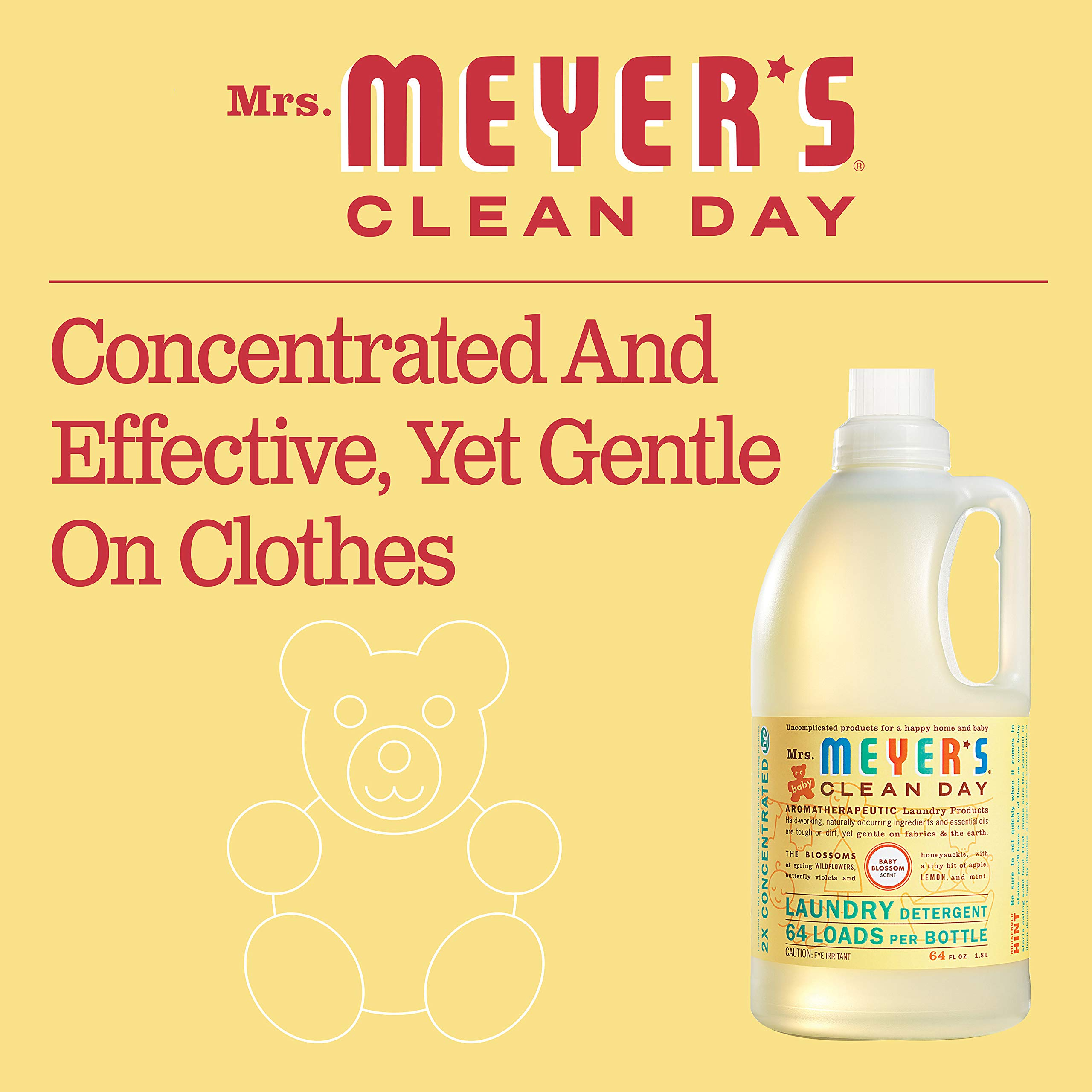 Mrs. Meyer's Laundry Detergent, Baby Blossom, 64 fl oz (2 ct) by Mrs. Meyer's Clean Day (Image #3)