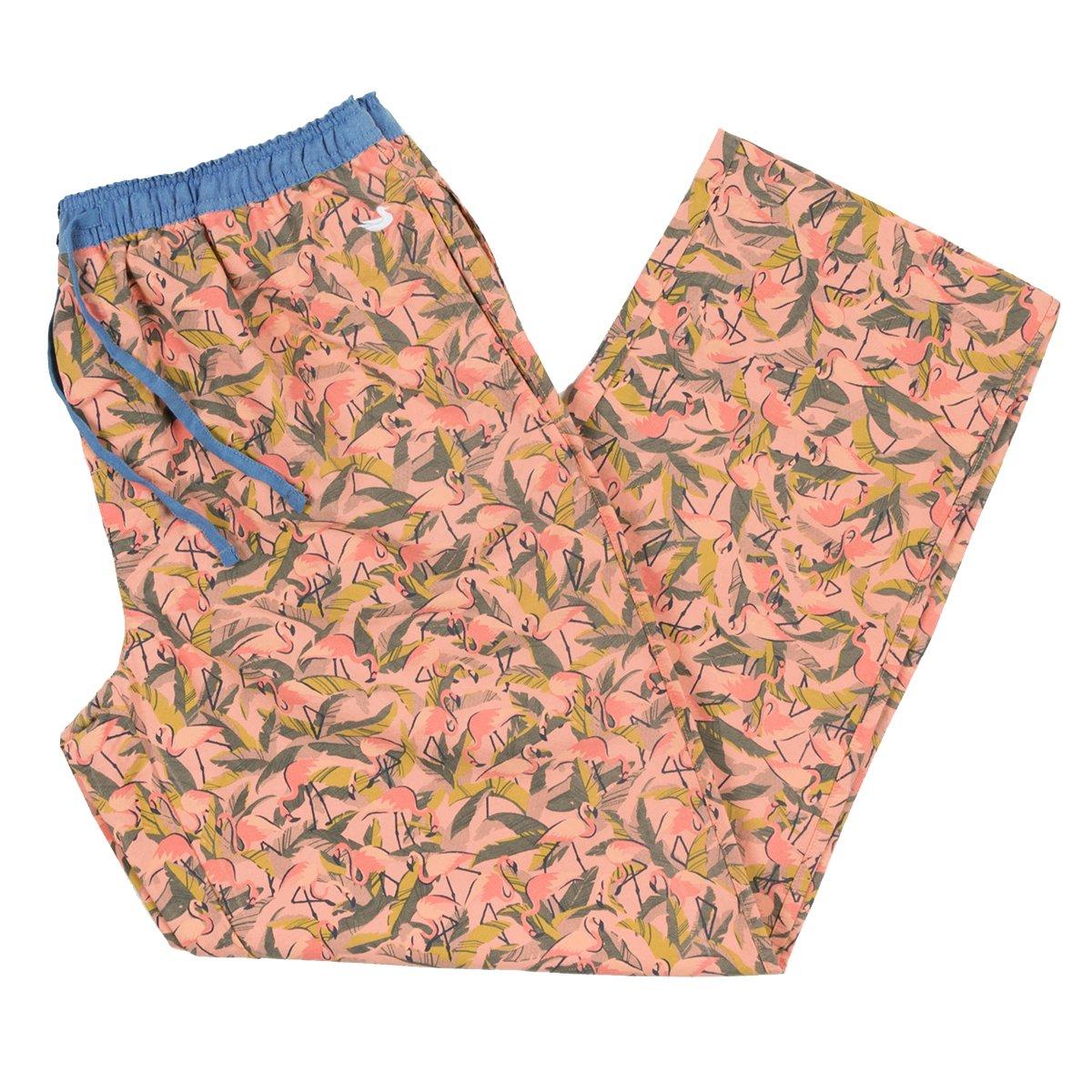 Southern Marsh Flamingos Savannah Lounge Pant in Sage /& Pink
